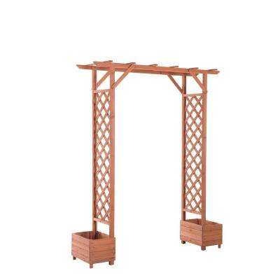 Trellis Arch 82 in. x 23 in. Wood Arbor