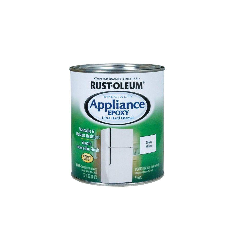 Rust-Oleum Specialty 1 qt. Appliance Epoxy Gloss White Interior ...