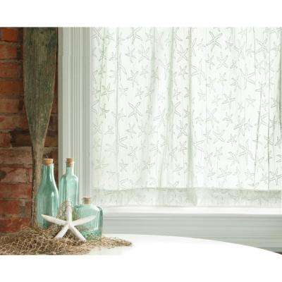 Starfish 84 in. L Polyester Valance in White