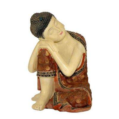 14 in. T Sleeping Polyresin Buddha with Right Knee Up