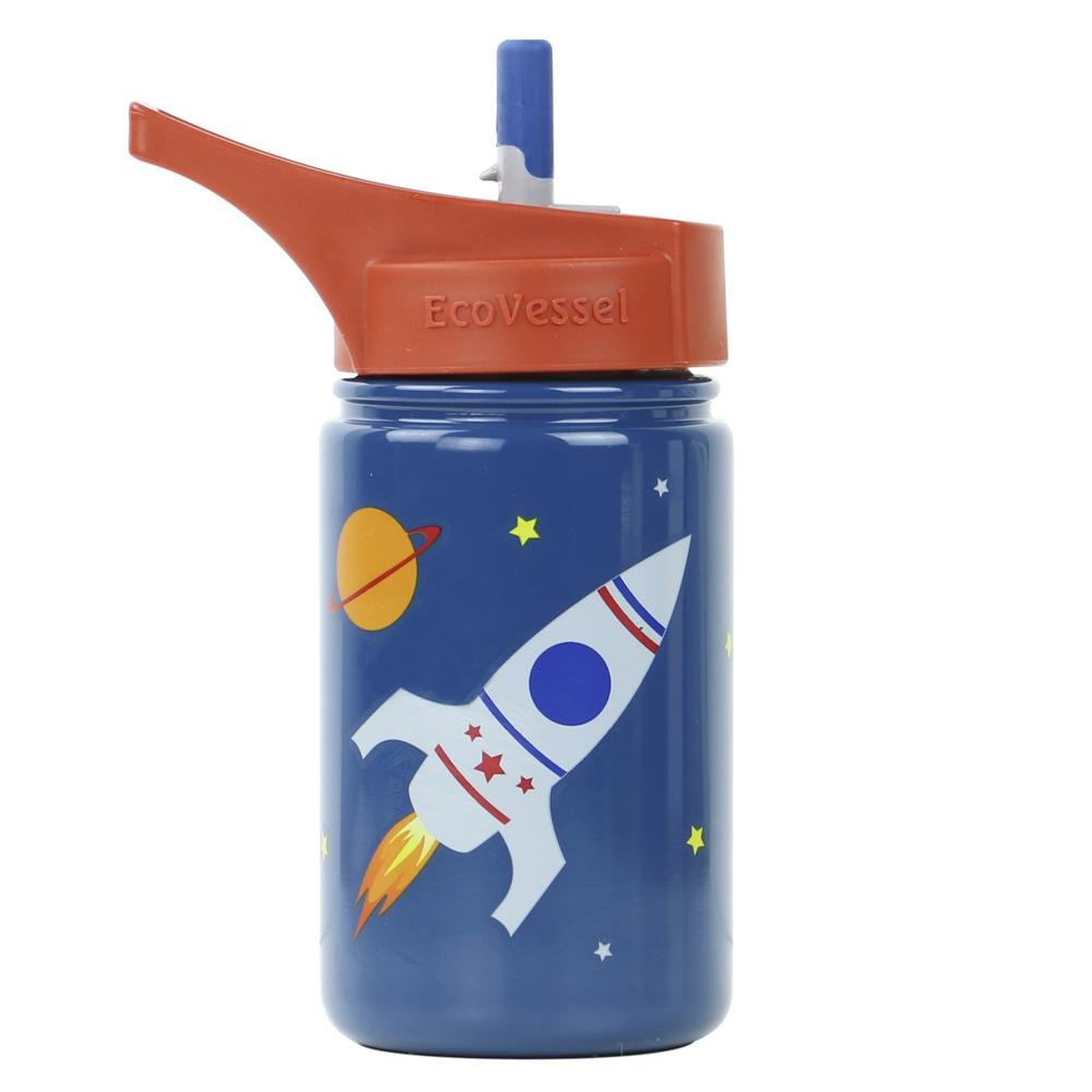 13 oz. Scout Kids Bottle with Straw Top - Blue with