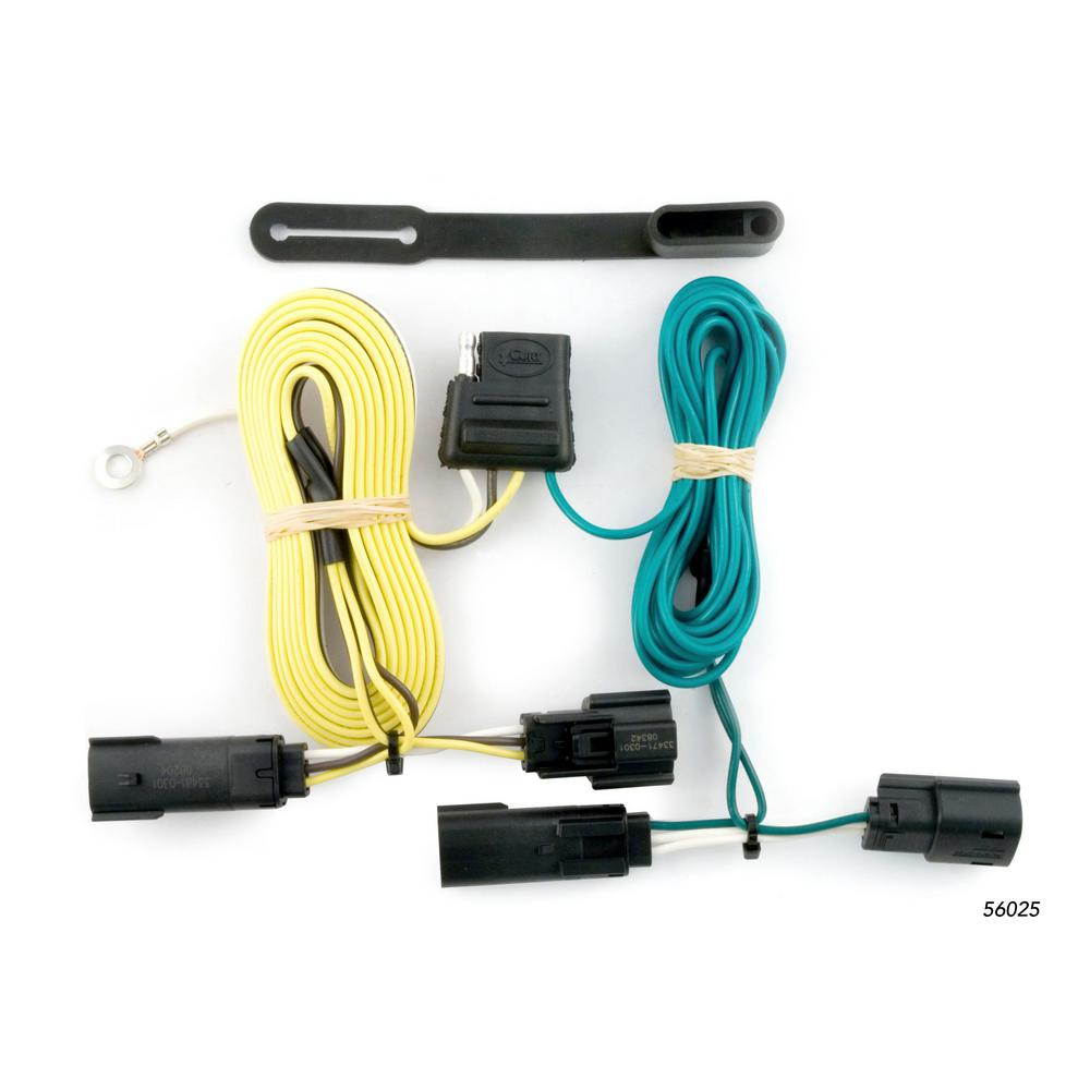 Magnificent Curt Custom Wiring Harness 4 Way Flat Output 56025 The Home Depot Wiring 101 Taclepimsautoservicenl