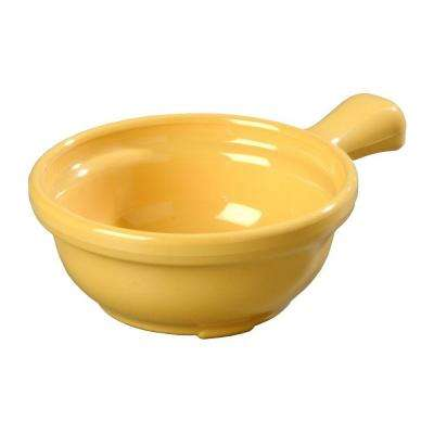 8 oz. 4.64 in. Diameter San Handled Soup Bowl in Honey Yellow (Case of 24)