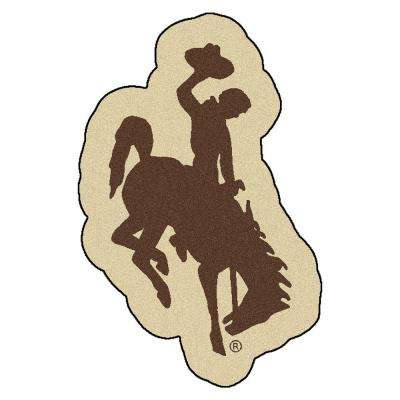 NCAA University of Wyoming Brown 3 ft. x 4 ft. Specialty Area Rug