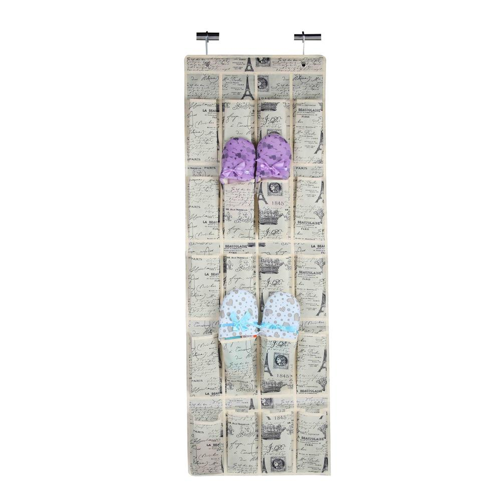 20-Pair Chevron Shoe Organizer