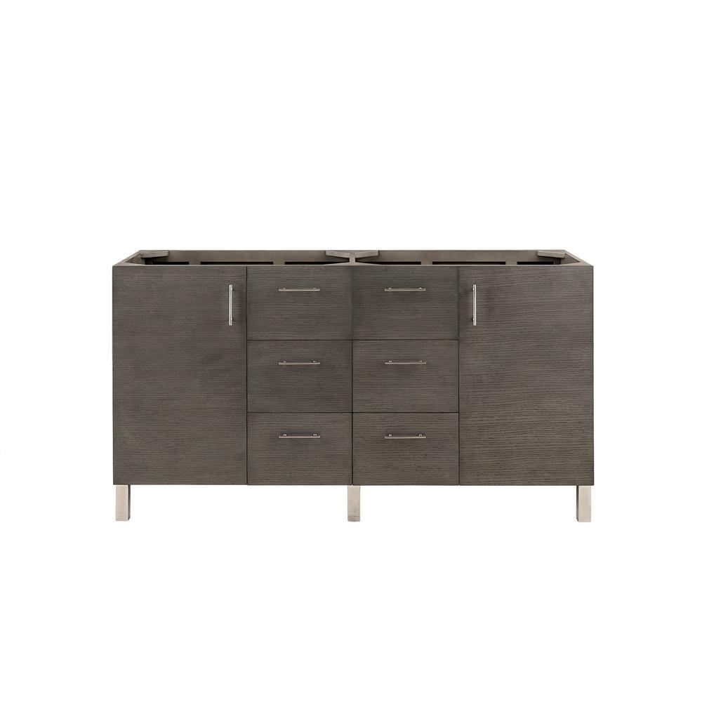 James Martin Vanities Double Bath Vanity Cabinet Only Silver Oak 8598