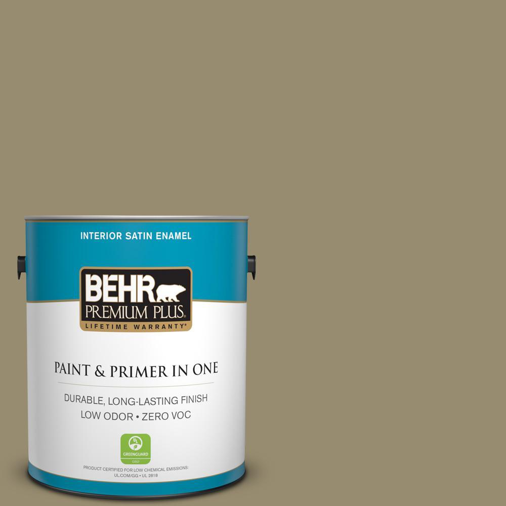 1 gal. #PPU8-04 Urban Safari Zero VOC Satin Enamel Interior Paint