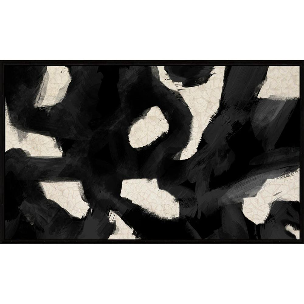 "PTM Images 21-1/2 in. x 35-1/2 in. ""Geographical Abstraction"" Framed Canvas Wall Art"