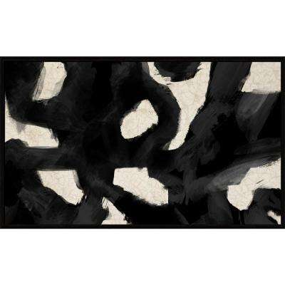 """21-1/2 in. x 35-1/2 in. """"Geographical Abstraction"""" Framed Canvas Wall Art"""