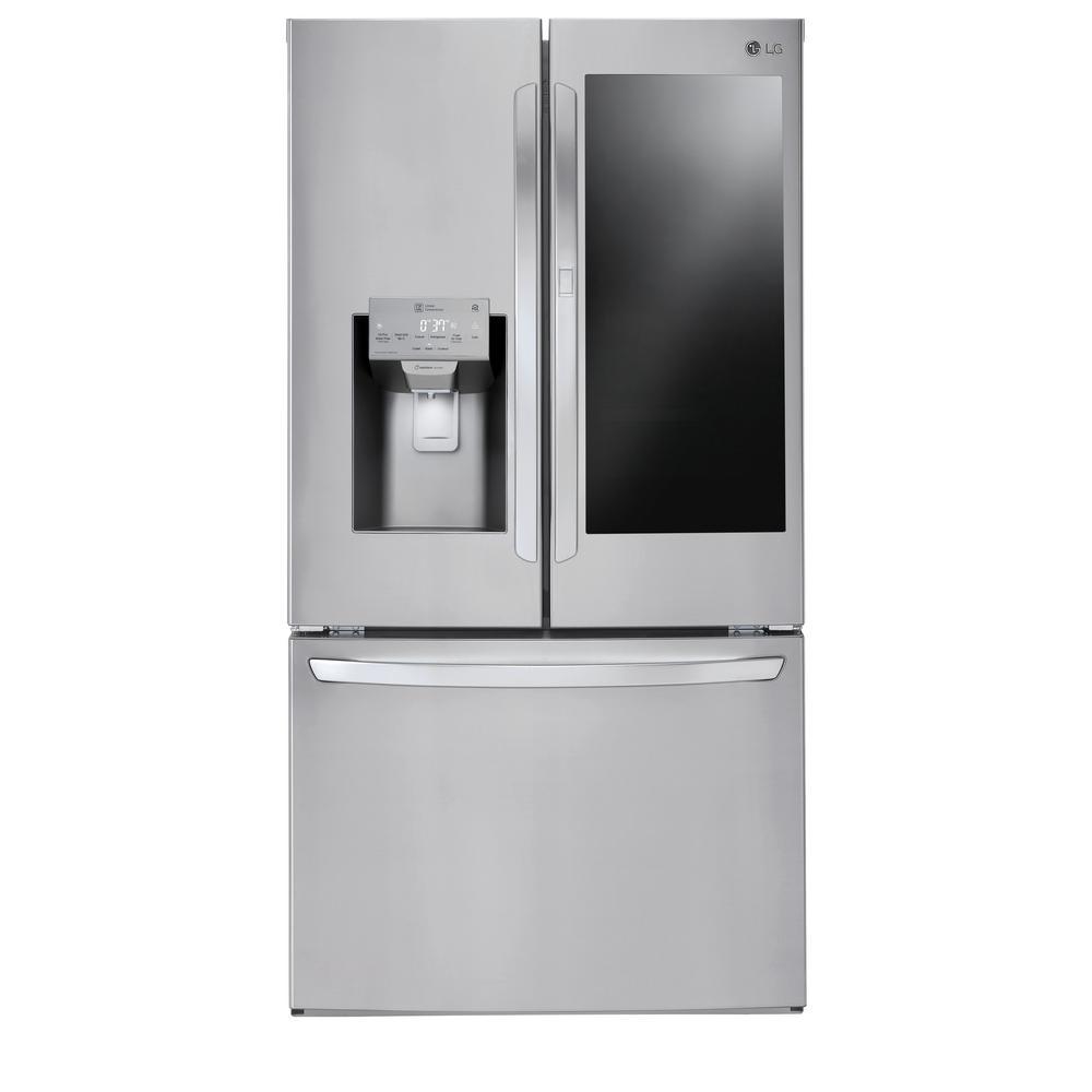 28 cu. ft. 3 Door French Door Smart Refrigerator with InstaView Door-in-Door and Wi-Fi Enabled in Stainless Steel