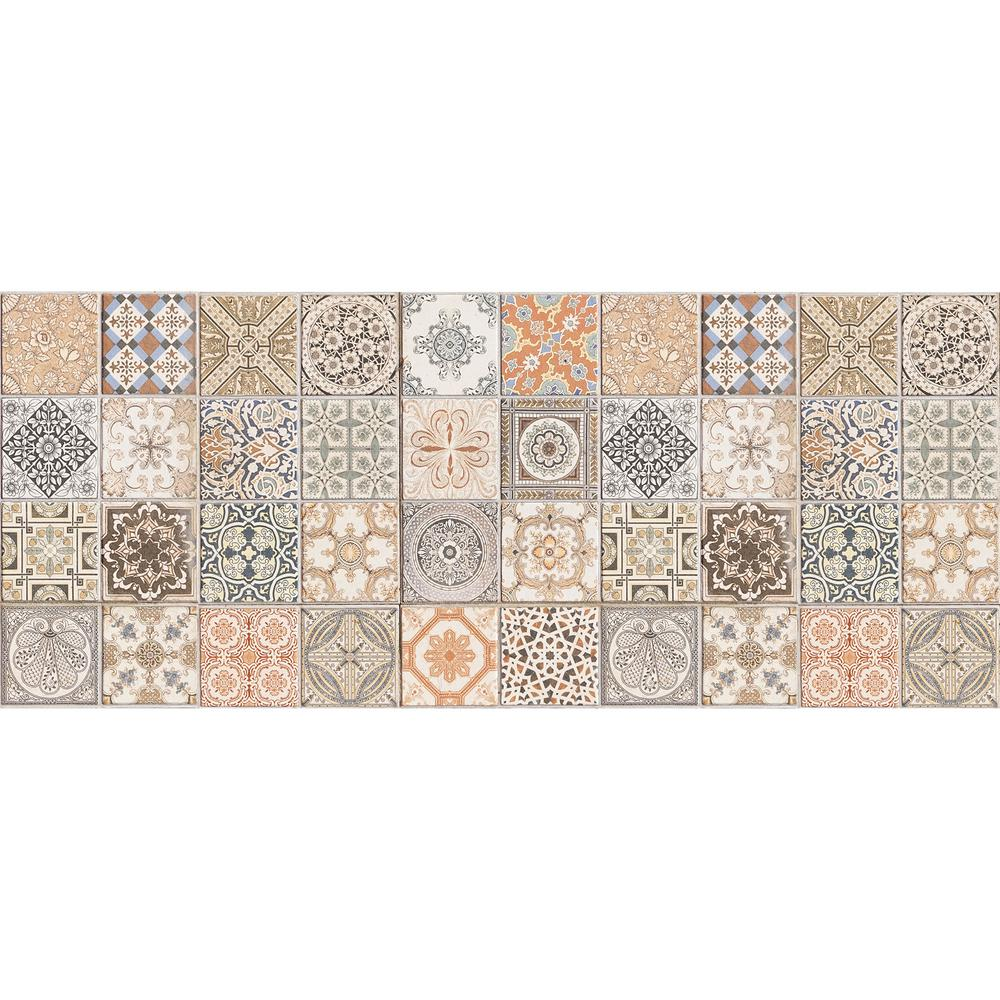 Vinyl Floor Mats >> Home Decor Line 47 2 In X 19 7 In Persian Tiles Vinyl Floor Mat