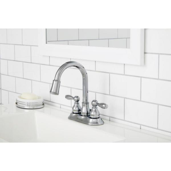 Glacier Bay Mandouri 4 In Centerset 2 Handle Led High Arc Bathroom Faucet In Chrome Hd67513w 6501 The Home Depot