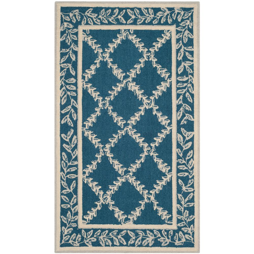 safavieh chelsea navy cream 3 ft 9 in x 5 ft 9 in area rug hk230n 4 the home depot. Black Bedroom Furniture Sets. Home Design Ideas