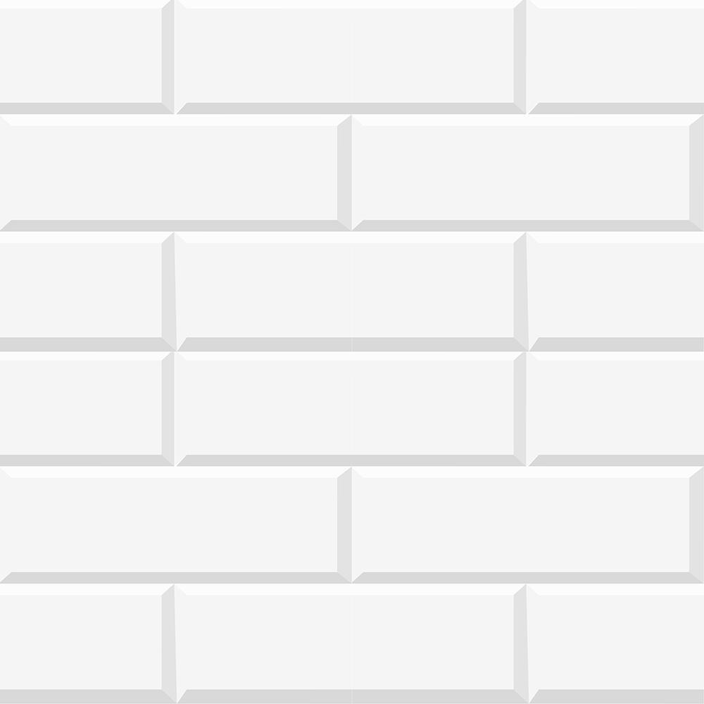 Brewster White Bricks Peel And Stick Wallpaper Border Cr