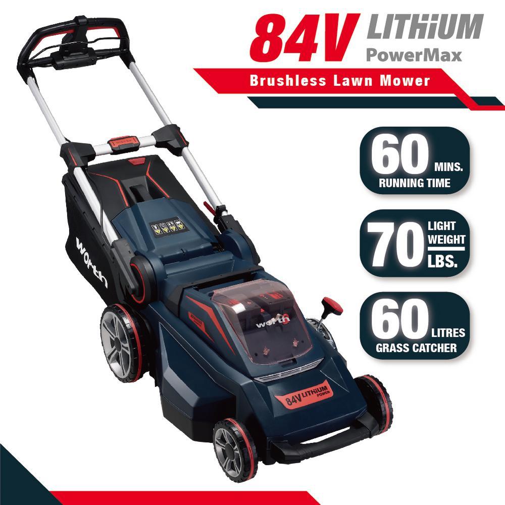 300 Garden Walk: Worth Garden Red And Black 19 In. 84-Volt Lithium-ion