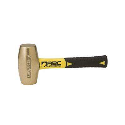 5 lbs. Brass Hammer with 8 in. Fiberglass Handle