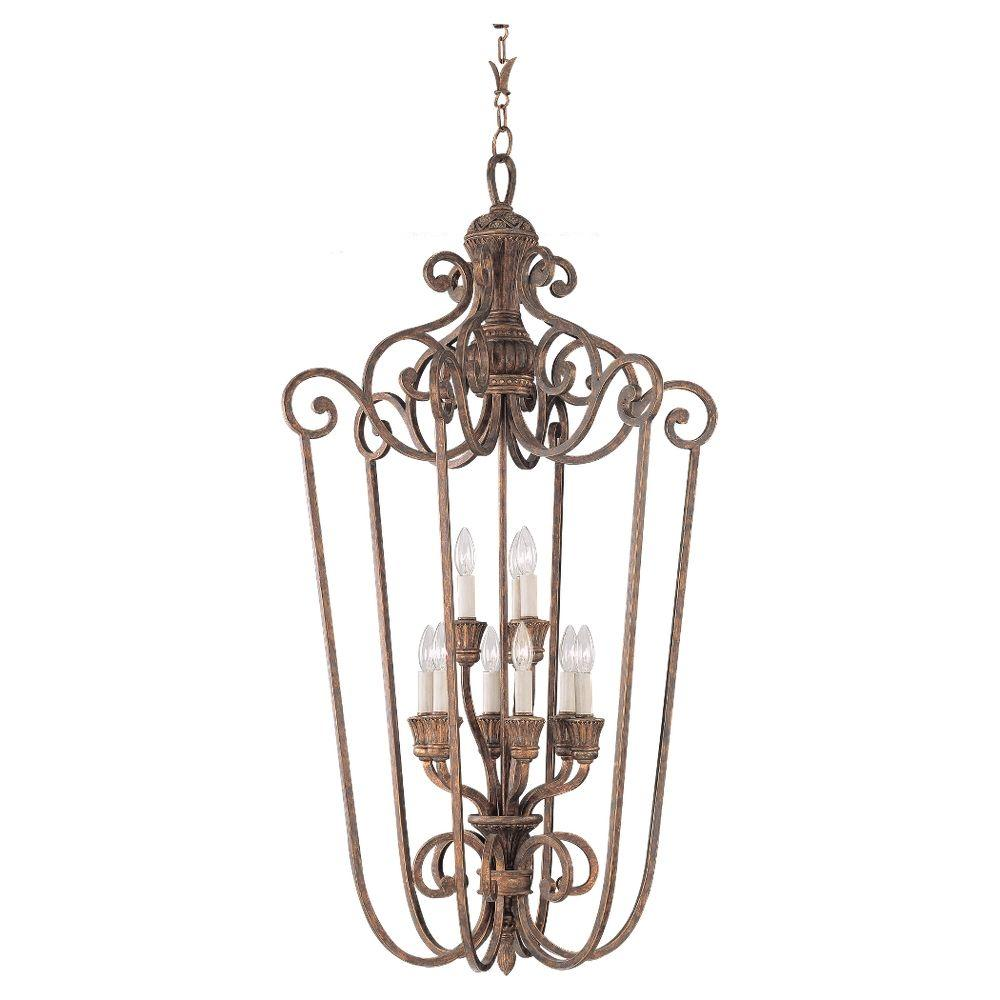 Sea Gull Lighting Highlands 9-Light Regal Bronze Hall-Foyer Pendant