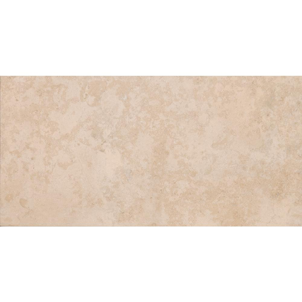 Petra Beige 12 in. x 24 in. Porcelain Paver Floor and