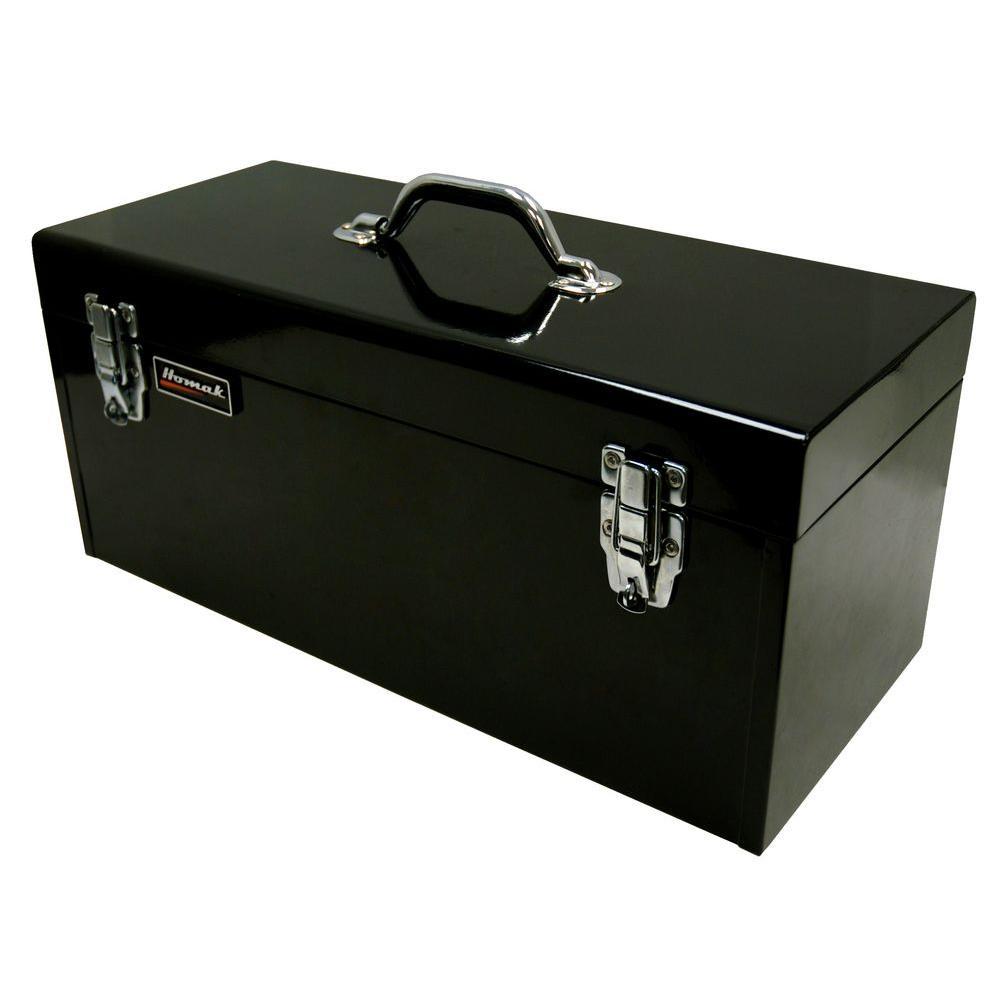 Homak 20 in. Tool Box, Black
