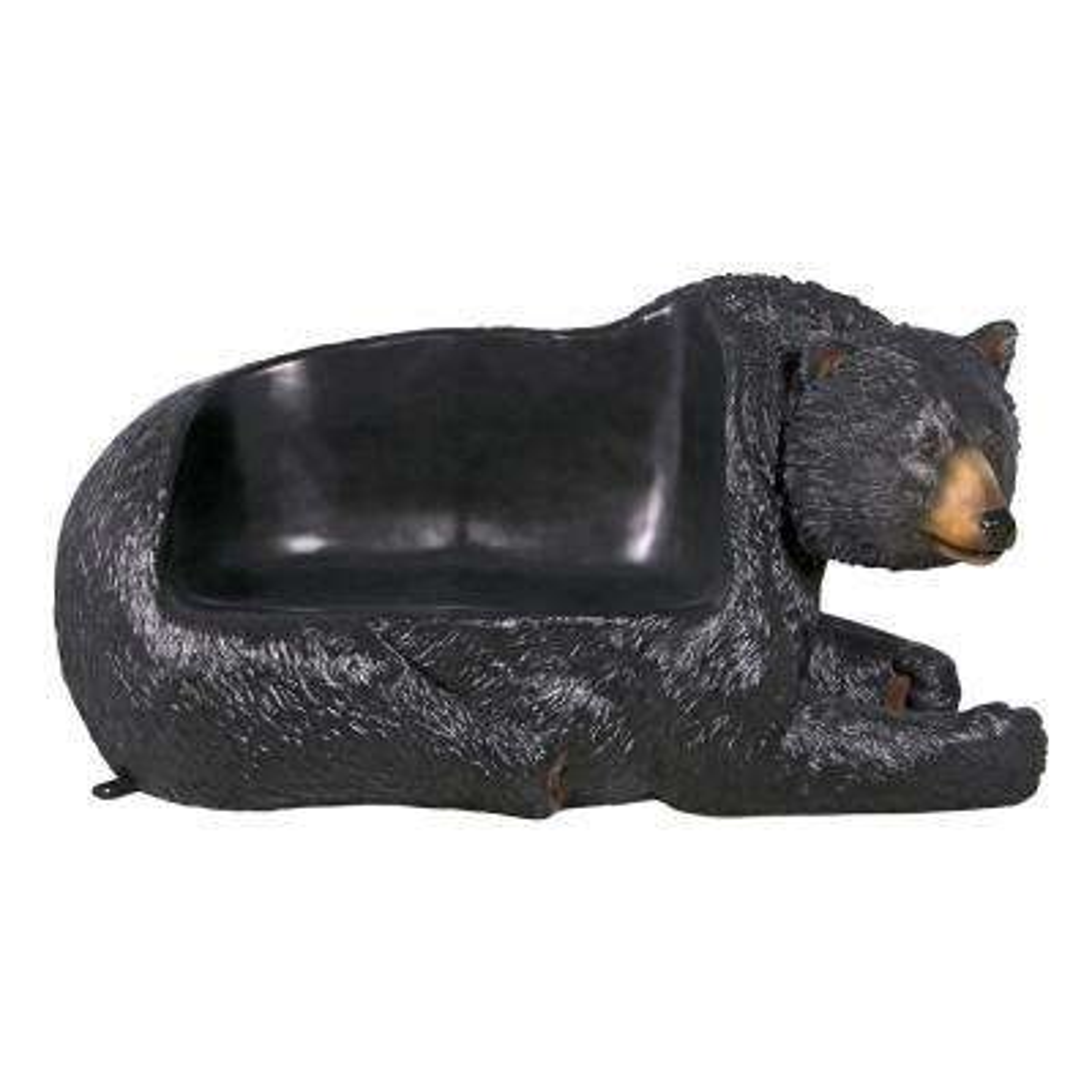 Black Bear 2-Person 79 in. W Full Color Fiberglass Outdoor Bench