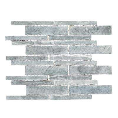 Stone Deck Moon 10-7/8 in. x 11-7/8 in. x 10 mm Stone Mosaic Tile