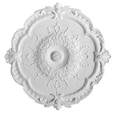 European Collection 15-3/16 in. x 1-3/16 in. Floral Polyurethane Ceiling Medallion