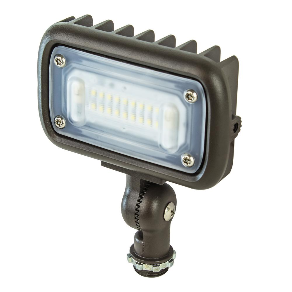 Landscape Flood Lights Spotlights: Lithonia Lighting Bronze Outdoor Integrated LED Wall Mount