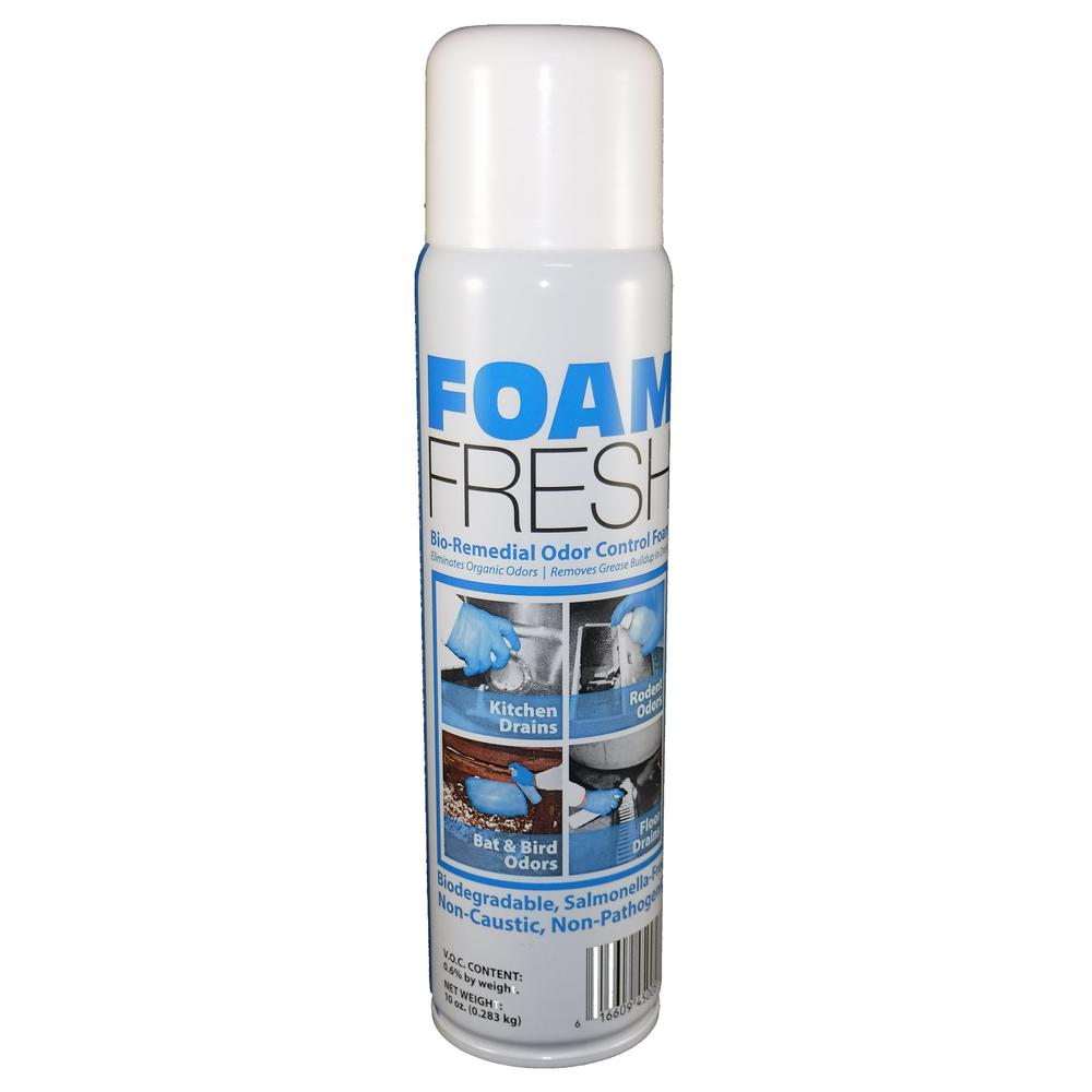 Foam Fresh 10 Oz. Bio-Remedial Gentle Iris, Biodegradable Foaming Odor and Organic Waste Control Spray (Case of 12)