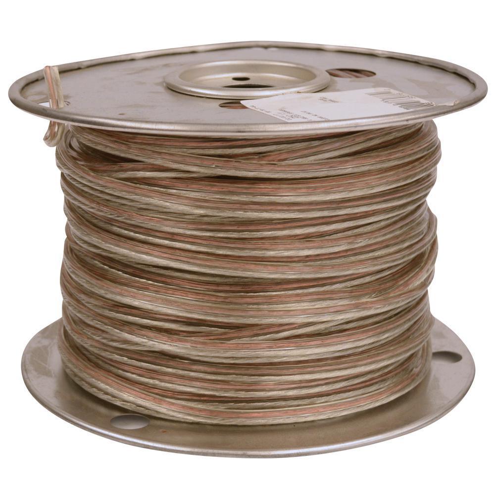Southwire 50 ft. 14/2-Gauge Clear Stranded CU Speaker Wire-56650802 ...