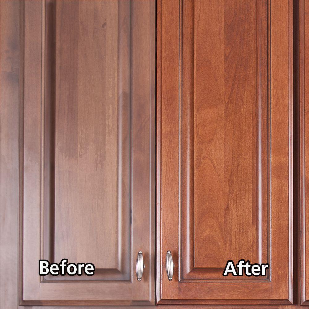 Rejuvenate 16 Oz Satin Finish Cabinet Restorer And Protectant Rj16cclamsat The Home Depot