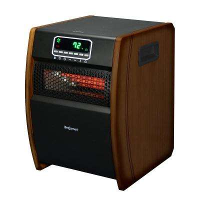 6-Element Infrared Heater with Decorative Wood Side Finish