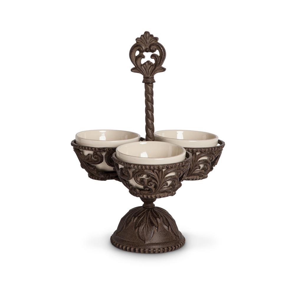 Condiment Server with Ceramic Bowls 91600