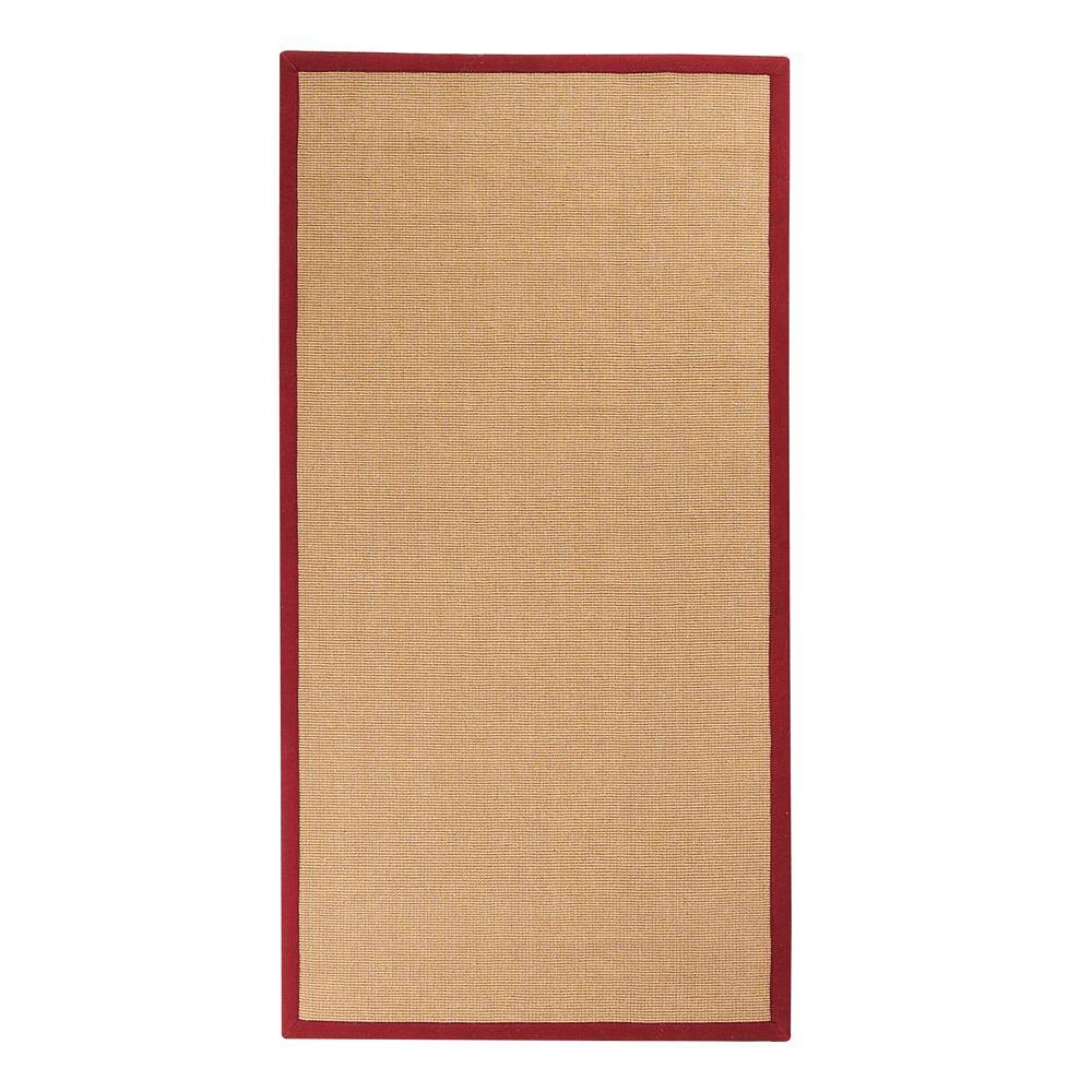 Home Decorators Collection Washed Jute Red 3 ft. x 10 ft. Rug Runner