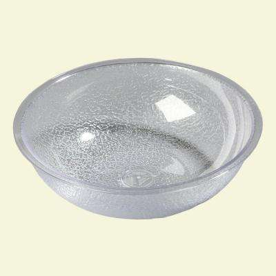 5.5 qt., 12.81 in. Diameter Polycarbonate Round Display and Serving Bowl in Clear (Case of 12)