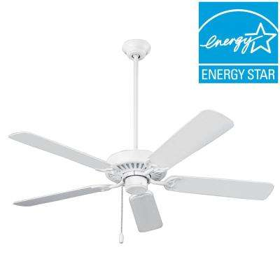 Standard Series 52 in. White Ceiling Paddle Fan