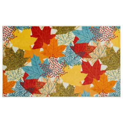 MULTI-COLOR LEAVES MULTI 1 ft. 6 in. x 2 ft. 6 in. Scatter Area Rug
