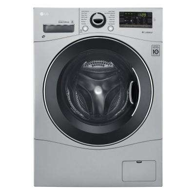 2.3 cu. ft. All-in-One Front Load Washer and Electric Ventless Dryer in Silver