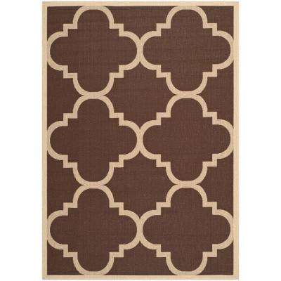 Courtyard Dark Brown 5 Ft. 3 In. X 7 Ft. 7 In.