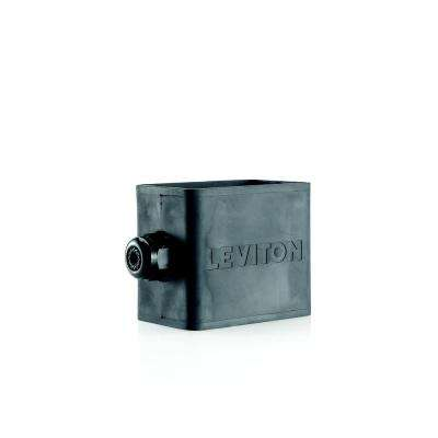 1-Gang Standard Depth Pendant Style Cable Dia 0.230 in. - 0.546 in. Portable Outlet Box, Black