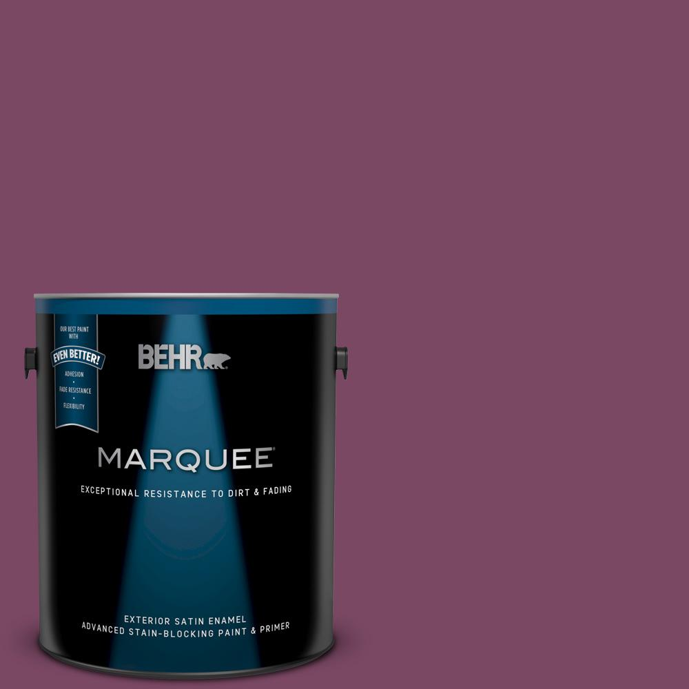 Behr Marquee 1 Gal Ppu1 19 Classic Berry Satin Enamel Exterior Paint And Primer In One 945301 The Home Depot
