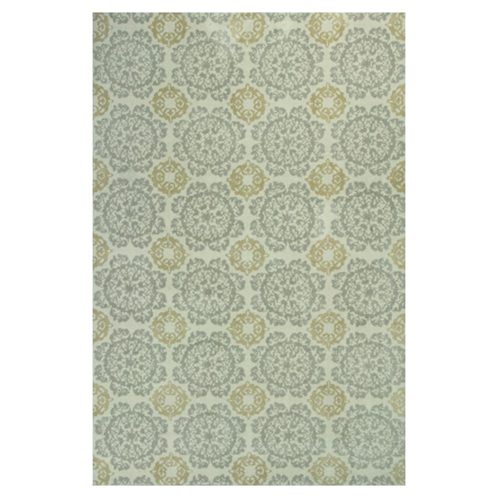 Kas Rugs Class of Tiles Silver/Gold 7 ft. 7 in. x 10 ft. 10 in. Area Rug