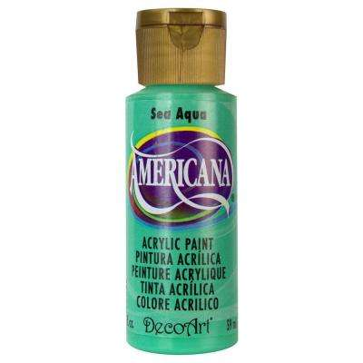Americana 2 oz. Sea Aqua Acrylic Paint