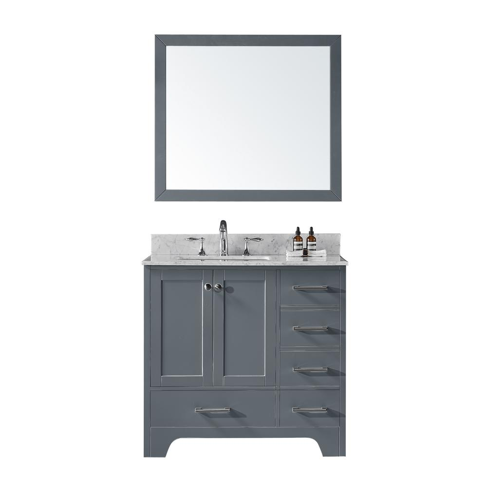 36 in. D Single Sink Bathroom Vanity in Cashmere Grey with