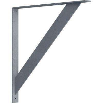 2 in. x 24 in. x 24 in. Steel Hammered Silver Traditional Bracket