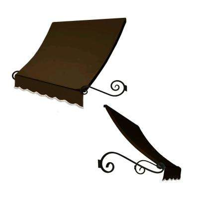 7.38 ft. Wide Charleston Window/Entry Awning (31 in. H x 24 in. D) Brown