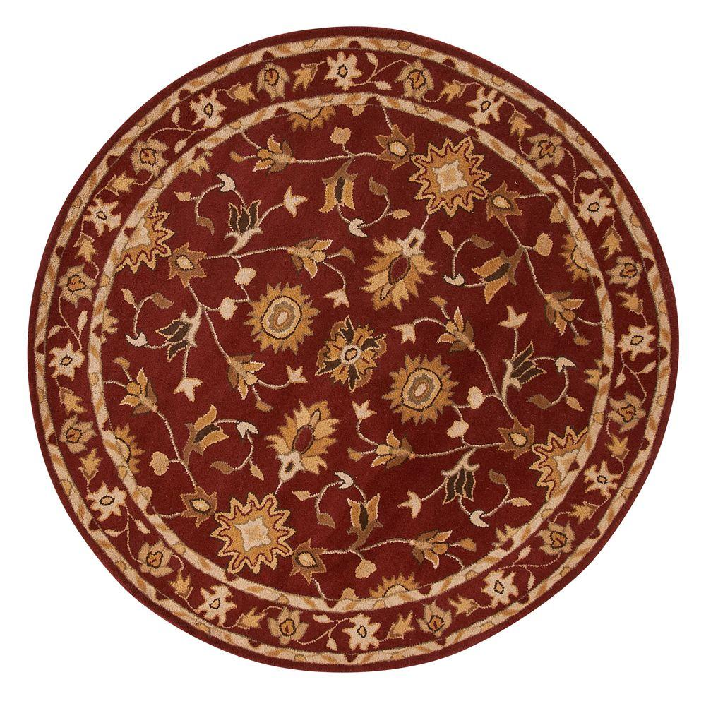 Home Decorators Collection Thornbury Red 7 ft. 9 in. Round Area Rug