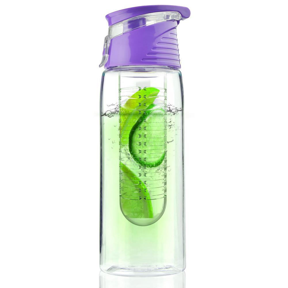 ASOBU Flavour2Go Water Bottle 20 oz. Purple Fruit Infuser
