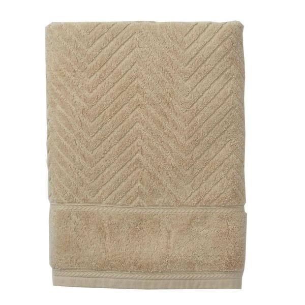 The Company Store Chevron Egyptian Cotton Single Hand Towel in Linen