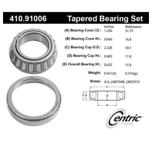 Centric 410.91006 Premium Wheel Bearing