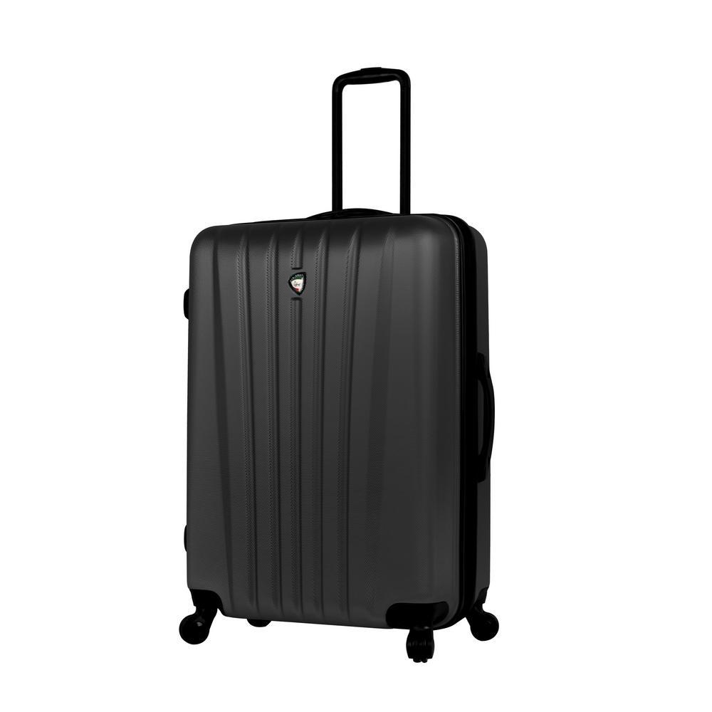 Mia Toro Magari 28 in. Black Hard Side Spinner Suitcase